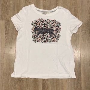 Anthropologie leopard graphic T-shirt. Sz small.